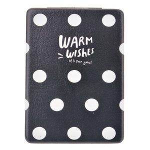 Handspiegel Stippen zwart wit