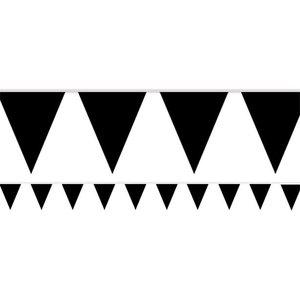 Vlaggenlijn zwart 10 m. Plastic