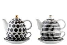 Tea for One Ball& StripeZwart/Wit J-LINE