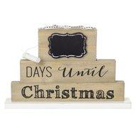Krijtbord dagen tot Kerst