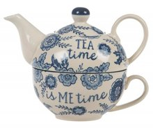 Tea for one Sass & Belle Tea time.. Blauw